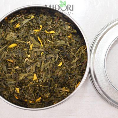 Zielona herbata Sencha z Mango, Zielona herbata, Sencha, zielona herbata z mango, Sencha z mango