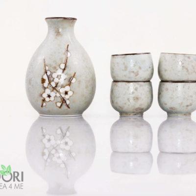 Komplet do sake, Soshun Sake Set, sake komplet, zestaw do sake, porcelana japońska, komplet japoński do sake, zestaw do sake,
