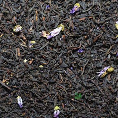 blue earl grey z niebieskimi kwiatami bergamotki, pyszna herbata, czarna herbata earl grey, herbata smakowa, najlepsza herbata, czarna herbata z bergamotką