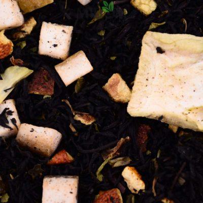 Czarna herbata Pomelo z Bazylią, herbata owocowa, herbata z owocami, herbata smakowa, naturalna herbata
