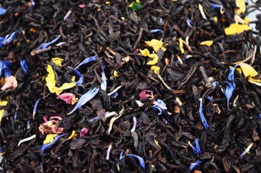 Czarna herbata z mango i marakują, herbata z owocami, herbata z mango, herbata z marakują, herbata owocowa, pyszna herbata, Czarna herbata z owocami