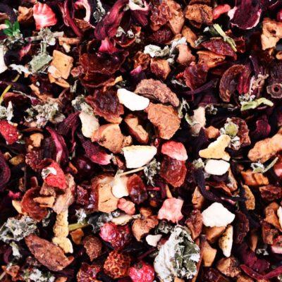 Herbata owocowa Red Fruits, herbata naturalna, herbata z owocami, zdrowa herbata, organiczna herbata