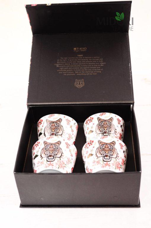 Zestaw kubków z tygrysem, zestaw na prezent, oryginalny prezent, zestaw prezentowy, piękny kubek, kubek na prezent, kubki na prezent