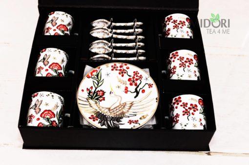 Zestaw do espresso Żuraw, zestaw do espresso, zestaw do espresso tokyo design, komplet do espresso