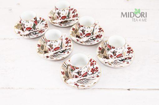 Zestaw do espresso Żuraw,Tokyo Design Studio, piękny zestaw, zestaw do espresso, japońska ceramika
