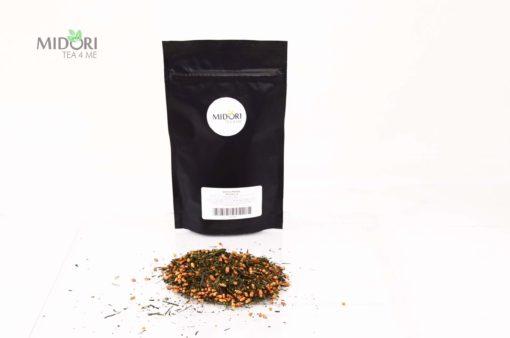 Zielona herbata Genmaicha, japońska genmaicha, herbata z ryżem, herbata z prażonym ryżem, wykwintna herbata, japońska herbata sklep