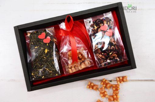 herbatka na prezent, Herbata na Walentynki, Zestaw herbat na Walentynki, prezent na walentynki, prezent walentynkowy, herbatka na walentynki