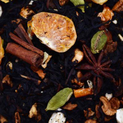 Czarna herbata z mandarynka i kardamonem, Czarna herbata smakowa, herbata z kardamonem, herbata z mandarynką, herbata rozgrzewająca