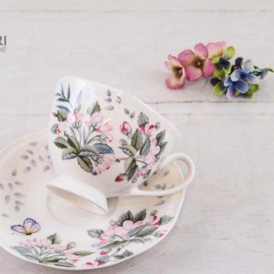 Filiżanka Butterfly, filiżanka ze spodkiem, Filiżanka na prezent, filiżanka w kwiaty, filiżanki lenox, piękna porcelana, porcelana na prezent