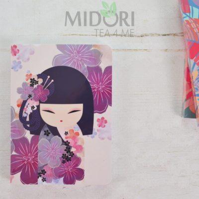 Notes Kimmidoll Collection, Notes Kokeshi, japońskie gadżety, japoński notes, gadżety japońskie, japoński prezent, prezent japoński, notes dla dziewczynki