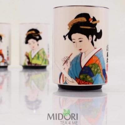 Porcelanowy kubek Japońska Gejsza, Kubek na prezent, japoński kubek, kubek japoński motyw, porcelanowy kubek, japoński prezent, prezent japoński