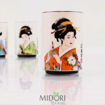 Porcelanowy kubek Japońska Gejsza, kubek na prezent, porcelana japońska, kubek gejsza, kubek japoński motyw, japoński prezent, prezent japoński