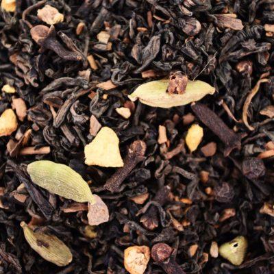 Herbata Pu-Erh z cynamonem i kardamonem, Czerwona herbata z dodatkami, pu erh z przyprawami, pu erh z kardamonem, pu erh z cynamonem