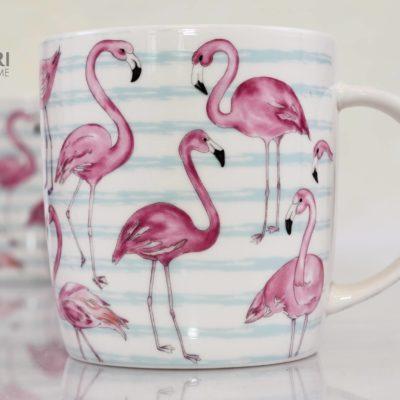 Niebieski kubek flaming, Kubek flamingi, kubek cha cult, porcelanowy kubek, kubek na prezent, new bone china, kubeczek na prezent, flaming kubek, kubek prezent