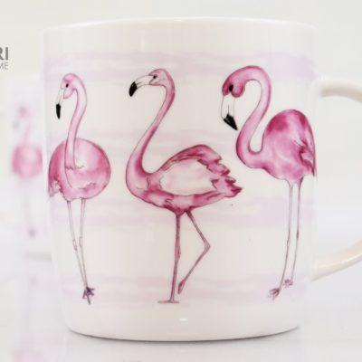 Kubek flamingi, kubek cha cult, porcelanowy kubek, kubek na prezent, new bone china, kubeczek na prezent, flaming kubek, kubek prezent, Różowy kubek flaming