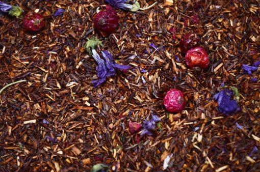 Rooibos z granatem i winogronami, owocowa rooibos, rooibos z owocami, herbata rooibos, herbata afrykańska, zdrowa herbata, pyszna herbata, Owocowy rooibos