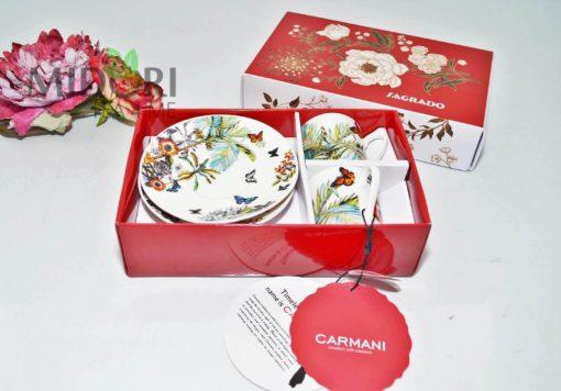 Komplet do Espresso Butterfly, Carmani 1