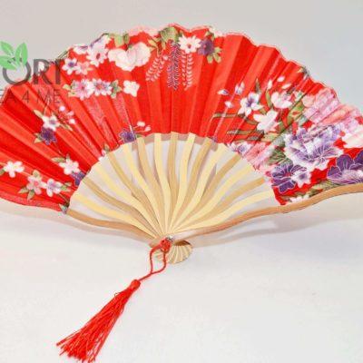 Wachlarz Japoński Czerwony 1