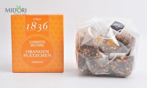 Czarna herbata Pomarańczowe Ciasteczka 1