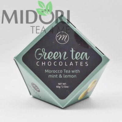 Praliny z zielona herbata mieta i limonka