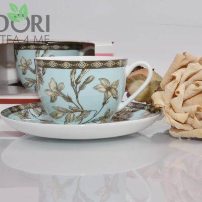 Porcelanowa filiżanka teli natalia niebieska 1