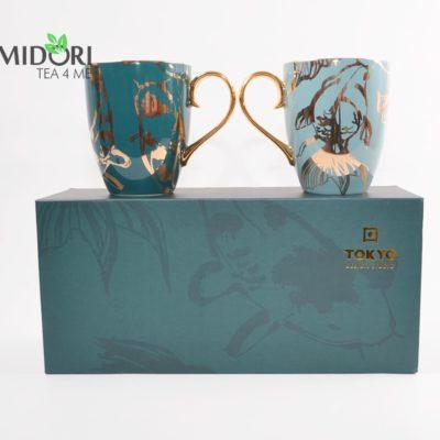Komplet kubków japońskich zestaw prezentowy 2
