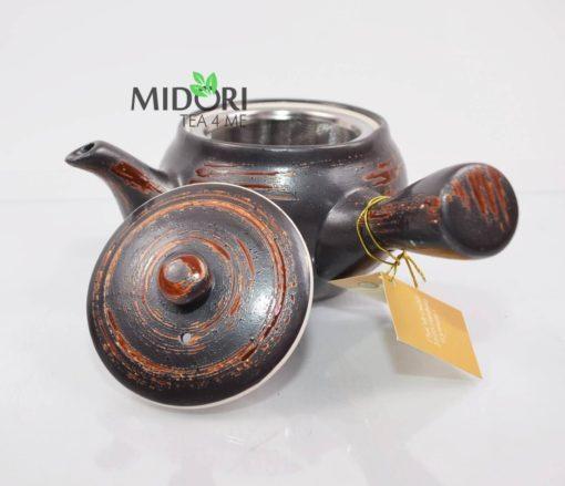 czajniczek do herbaty japoński, imbryk do herbaty, dzbanek do herbaty, zaparzacz z sitkiem, do zaparzania herbaty brazowy