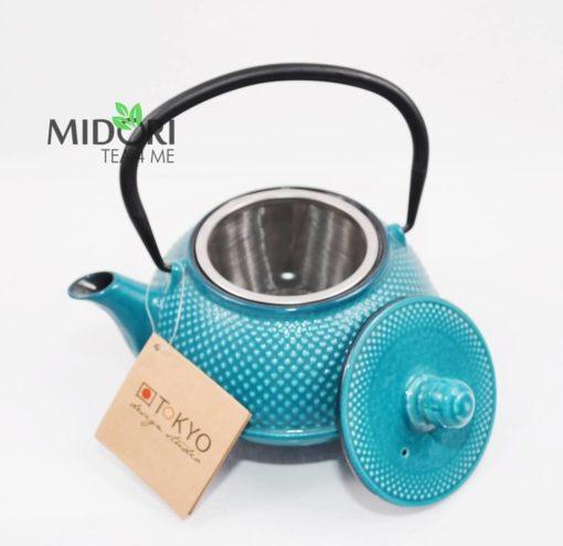 dzbanek żeliwny, zaparzacz do herbaty żeliwny, czajnik żeliwny, dzbanek żeliwny z sitkiem, imbryk żeliwny do herbaty, tradycyjny dzbanek do parzenia herbaty, imbryk z sitkiem 3