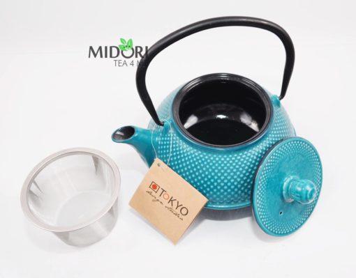 dzbanek żeliwny, zaparzacz do herbaty żeliwny, czajnik żeliwny, dzbanek żeliwny z sitkiem, imbryk żeliwny do herbaty, tradycyjny dzbanek do parzenia herbaty, imbryk z sitkiem 4 (2)