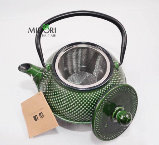 dzbanek żeliwny, zaparzacz do herbaty żeliwny, czajnik zeliwny, dzbanek żeliwny z sitkiem, imbryk żeliwny do herbaty, tradycyjny dzbanek do parzenia herbaty, imbryk z sitkiem 3