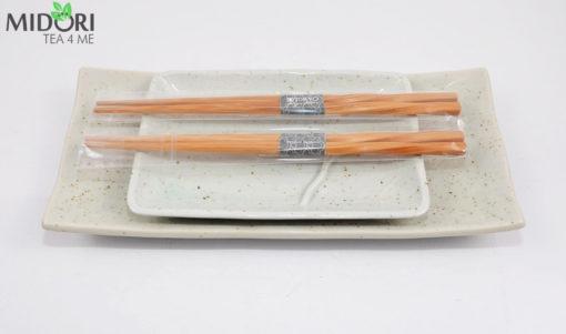 komplet do sushi z pałeczkami, nakrapiana ceramika, zestaw do sushi, ceramika japońska, porcelana z japonii, japońska porcelana1