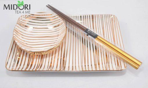 zestaw do sushi, zestaw tokyo design studio, komplet do sushi, ceramika japonska, porcelana do sushi, ceramika kuchnia azjacka, zestaw na prezent, komplet na prezent 12