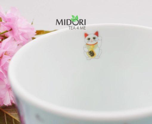 ceramiczny kubek lucky cat, kubek do herbaty, kubek z kotem na szczęście, kubek z japonskim kotem, maneki neko, lucky cat, kubek na prezent, kubek na szczęście, kubek kawaii 1