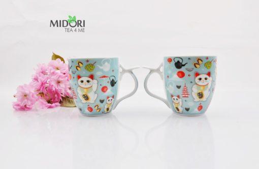 ceramiczny kubek lucky cat, kubek do herbaty, kubek z kotem na szczęście, kubek z japonskim kotem, maneki neko, lucky cat, kubek na prezent, kubek na szczęście, kubek kawaii 1 (6)