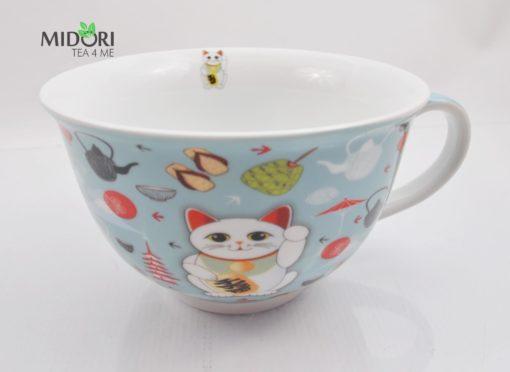 filiżanka ceramiczna lucky cat, do herbaty, filiżanka z kotem na szczęście, filiżanka z japonskim kotem, maneki neko, lucky cat, kawaii,filiżanka bardzo duża 4 (1)