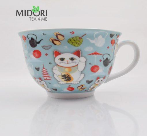 filiżanka ceramiczna lucky cat, do herbaty, filiżanka z kotem na szczęście, filiżanka z japonskim kotem, maneki neko, lucky cat, kawaii,filiżanka bardzo duża 4 (3)