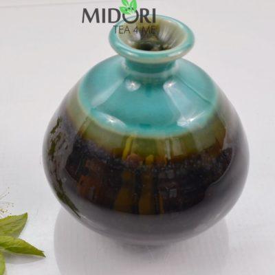 karafka do sake, butelka do sake, tokuri, japońskie naczynie do sake, wazon japoński, naczynia japońskie, recznie malowane naczynia, ceramika japońska 6