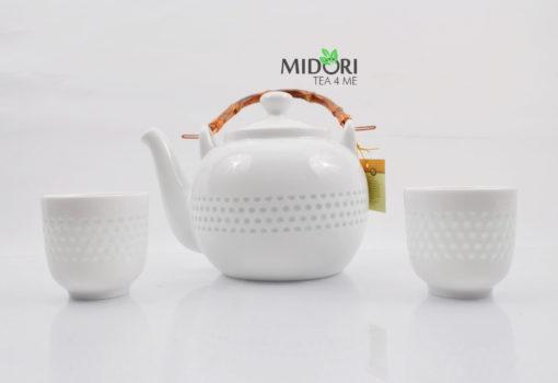 zestaw do herbaty, zestaw do parzenia herbaty z porcelany, dzbanek i czarki do herbaty, komplet do herbaty, ryżowy serwis , porcelana ryżowa, imbryk do herb (3 (9)