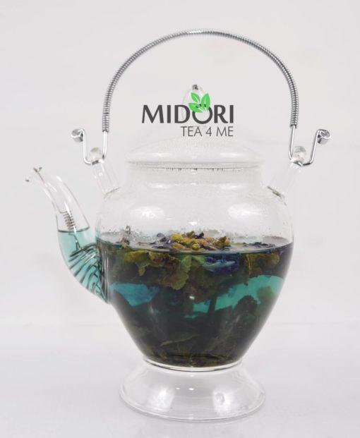 Herbata Oolong Butterfly, oolong z klitorią ternateńską, oolong z niebieską klitorią, niebieska herbata, herbata niebieska, niebieska klitoria, Herbata Oolong niebieska13
