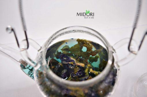 Herbata Oolong Butterfly, oolong z klitorią ternateńską, oolong z niebieską klitorią, niebieska herbata, herbata niebieska, niebieska klitoria, Herbata Oolong niebieska14