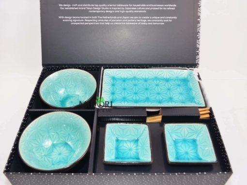 zestaw do sushi, komplet do sushi, ceramiczna zastawa do sushi, pomysł na prezent, japońska zastawa do sushi, japońska ceramika, japońska porcelana, japoński talerz sushi 1