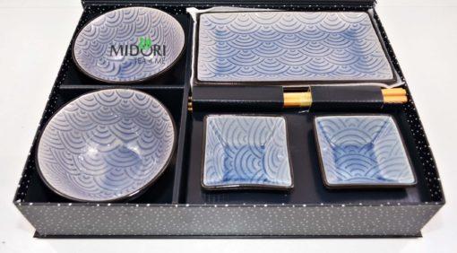 zestaw do sushi, komplet do sushi, ceramiczna zastawa do sushi, pomysł na prezent, japońska zastawa do sushi, japońska ceramika, japońska porcelana, japoński talerz sushi 2