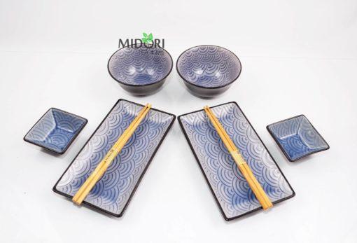 zestaw do sushi, komplet do sushi, ceramiczna zastawa do sushi, pomysł na prezent, japońska zastawa do sushi, japońska ceramika, japońska porcelana, japoński talerz sushi 3