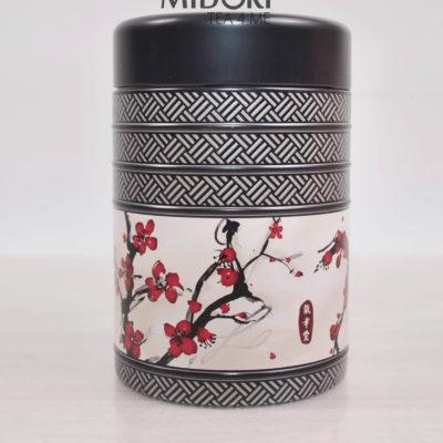 Metalowa puszka na herbatę, puszka Kyoto kwiat wiśni, puszka na zioła, pojemnik na herbatę, ozdobna puszka japoński wzór
